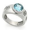 Серебряное кольцо с топазом SL-02191-660 весом 6.6 г  стоимостью 2500 р.