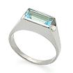 Серебряное кольцо с топазом SL-02063-380 весом 3.81 г  стоимостью 1200 р.