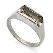 Серебряное кольцо с раухтопазом SL-02063-355 весом 3.54 г  стоимостью 1600 р.