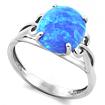 Серебряное кольцо с голубым опалом SL-0235-300 весом 3 г  стоимостью 1550 р.