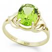 Золотое кольцо с хризолитом SL-0249-296 весом 2.96 г  стоимостью 15300 р.