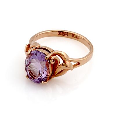 Кольцо с аметистом золотое 3.2 г SL-0249-308