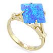 Золотое кольцо с голубым синтетическим опалом SL-0255-321 весом 3.2 г  стоимостью 14400 р.