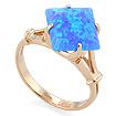 Золотое кольцо с голубым синтетическим опалом SL-0255-320 весом 3.2 г  стоимостью 14400 р.