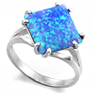 Серебряное кольцо с голубым опалом (синтетика) SL-2116-410 весом 4.1 г  стоимостью 2100 р.