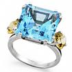 Серебряное кольцо с топазом SL-2126-730 весом 7.3 г  стоимостью 8600 р.