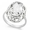 Серебряное кольцо с горным хрусталем SL-2193-490 весом 4.7 г  стоимостью 3100 р.