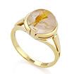 Золотое кольцо с кварцем «Волосатик» SLK-2844-395 весом 3.94 г  стоимостью 17336 р.